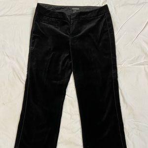 Club Monaco velvet cropped pants.